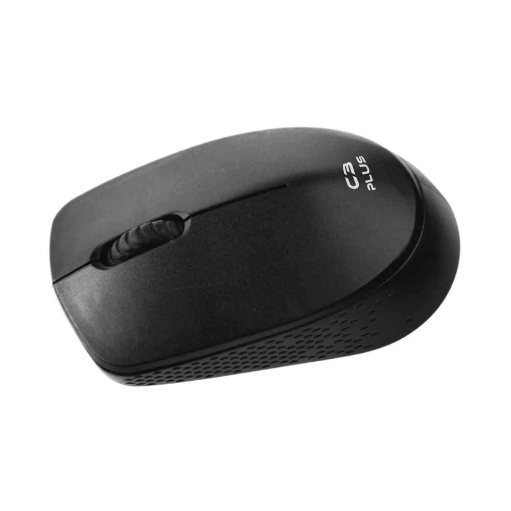 Mouse Sem Fio Wireless USB C3 Plus Preto M-W17BK