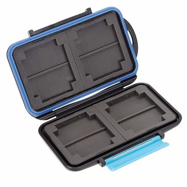 Porta Cartão de Memória 12 Cartões em 1 Case Antichoque e à Prova DÁgua em ABS 8 SD e 4 CF Estojo