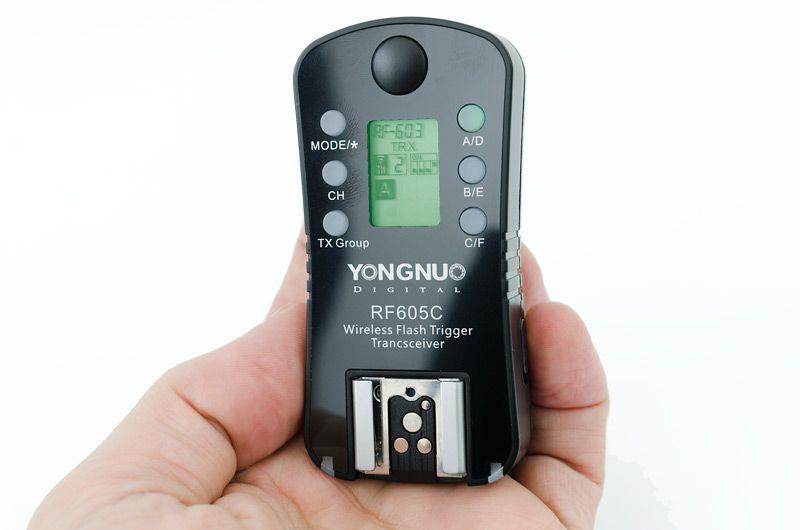 Radio Flash Yongnuo RF605C Par Com Telinha LCD Manual Sem TTL