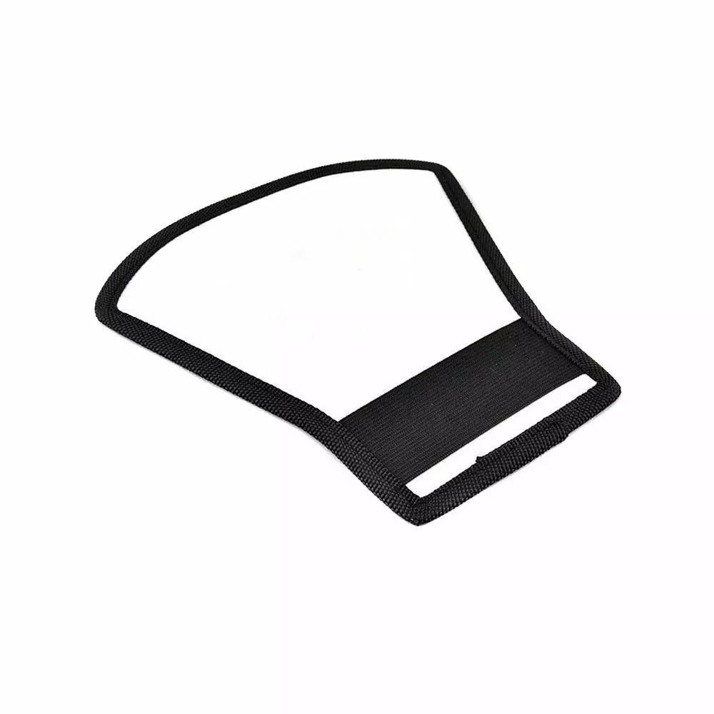 Rebatedor Para Flash 2 em 1 Frente Verso Branco Prata Formato Leque Refletor