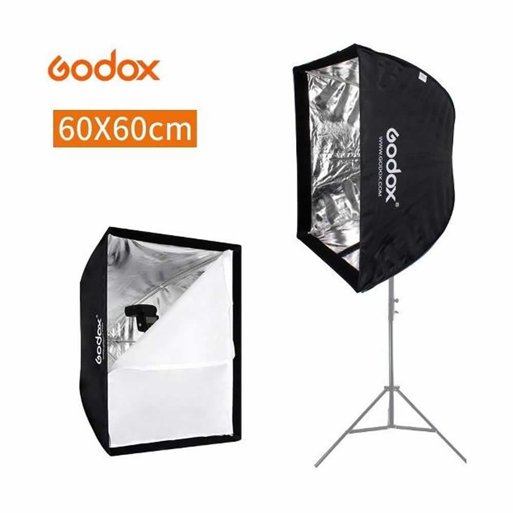 Softbox Quadrado 60 x 60 cm Godox Original Formato Sombrinha ou Guarda Chuva Haze 60x60