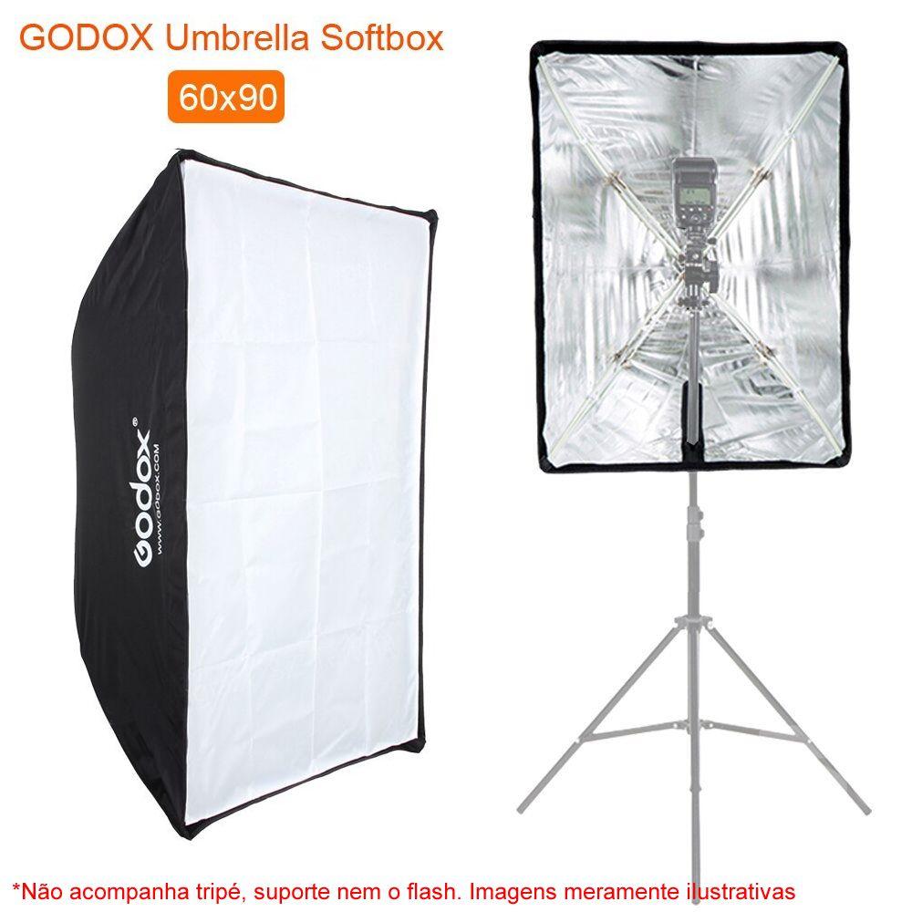 Softbox Retangular 60 x 90 cm Godox Original Formato Sombrinha ou Guarda Chuva Haze 60x90