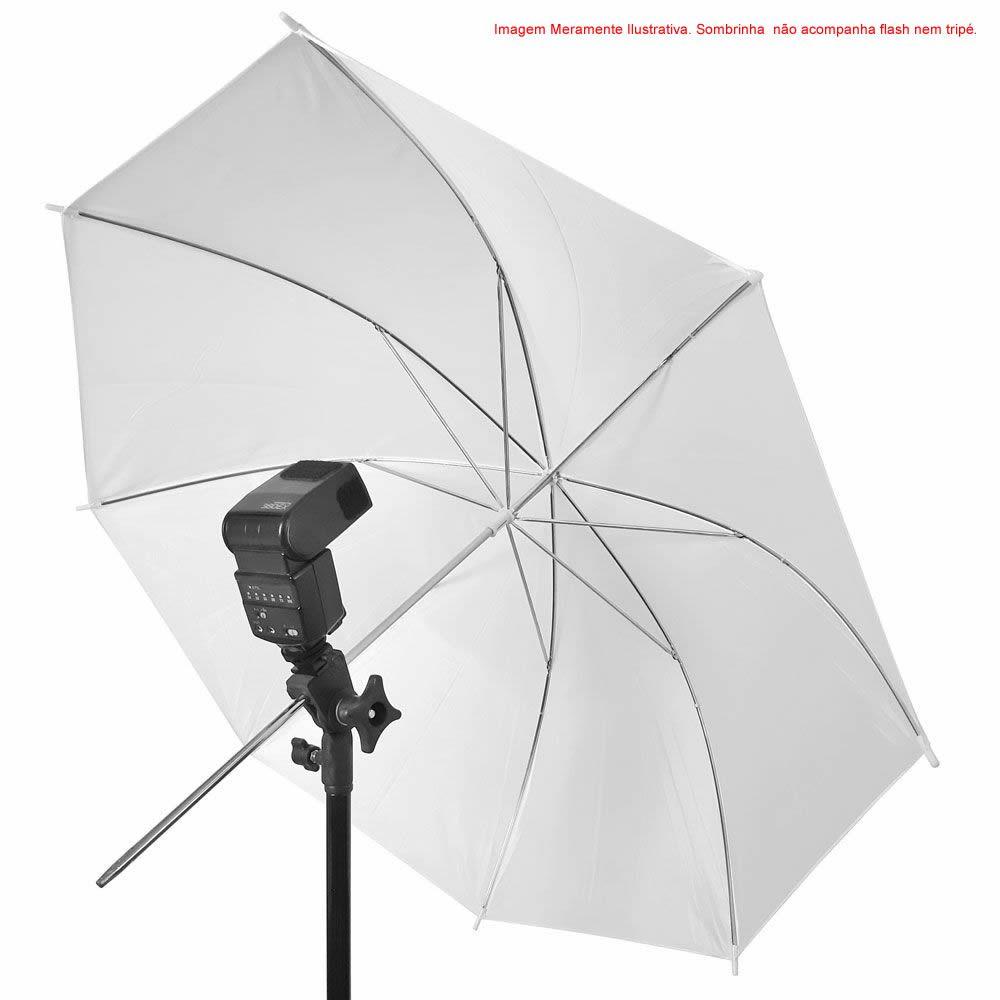 Sombrinha Fotográfica Difusora Branca 80cm Translúcido Iluminação Estúdio Fotografia