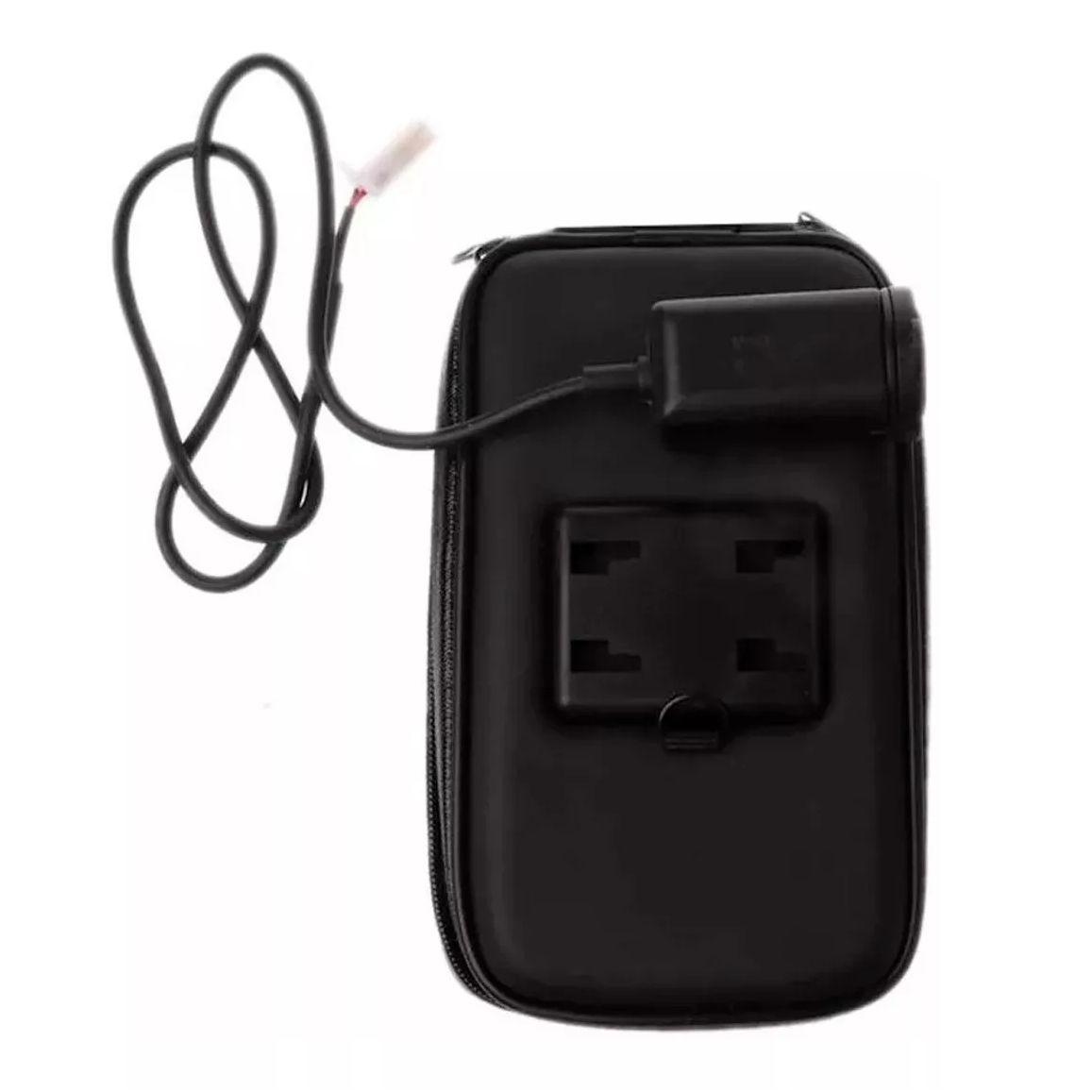 Capa de Smartphone até 5,5 Polegadas Para Moto Case Impermeável C/ zíper e Com Saída USB Suporte em Guidão SP-CA24S