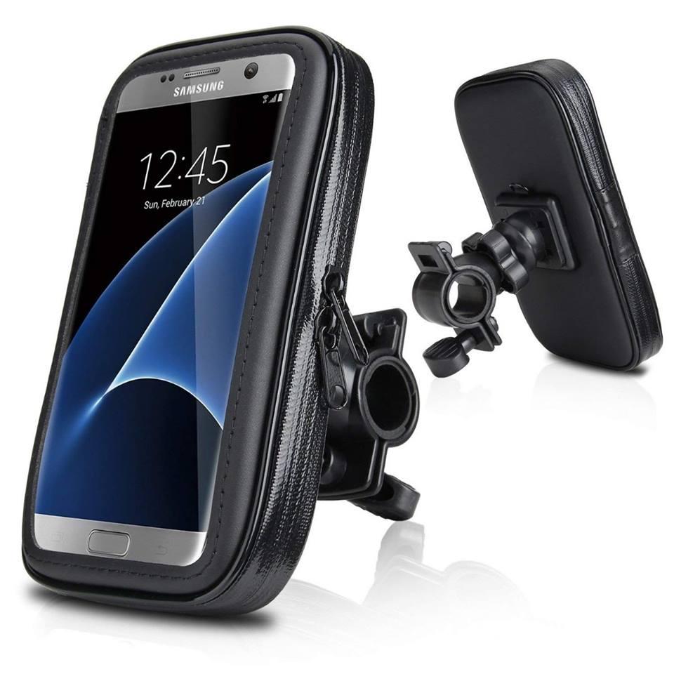Capa de Smartphone até 5,5 Polegadas Moto e Bicicleta Case Impermeável C/ zíper Suporte em Guidão SP-C20S
