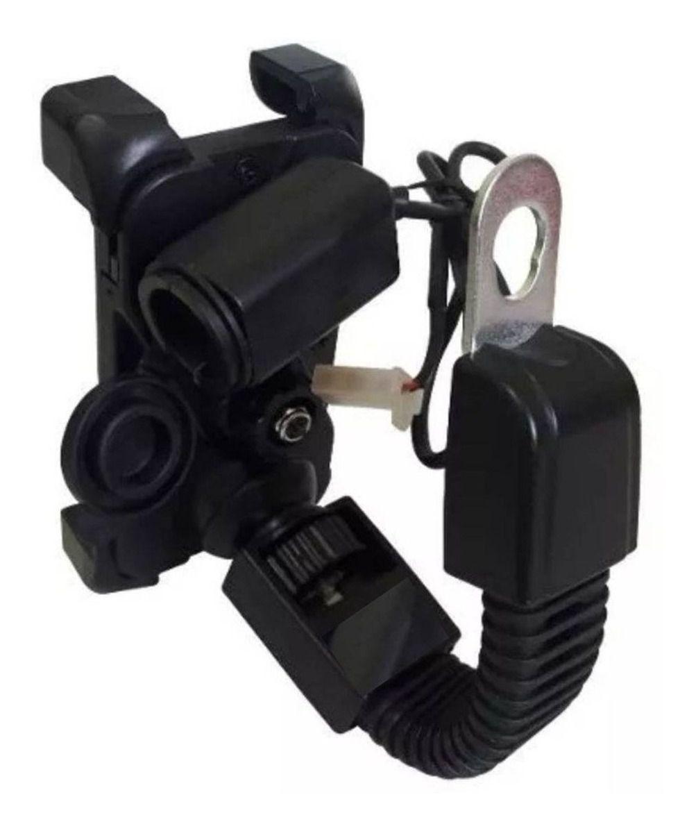 Suporte garra para moto Celular com carregador USB 2A p/ 4.5 à 7.5 polegadas fixação retrovisor SP-CA55
