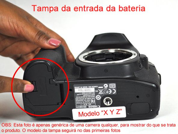 Tampa Do Compartimento Bateria Câmera Modelo Canon 6d