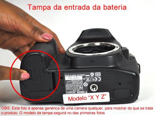 Tampa Do Compartimento Bateria Câmera Modelo Canon 700d T5i