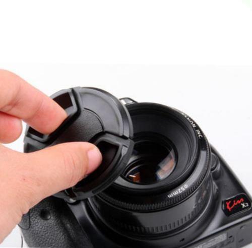 Tampa Frontal Para Lentes Fotográfica Snap-on Com Logo Nikon