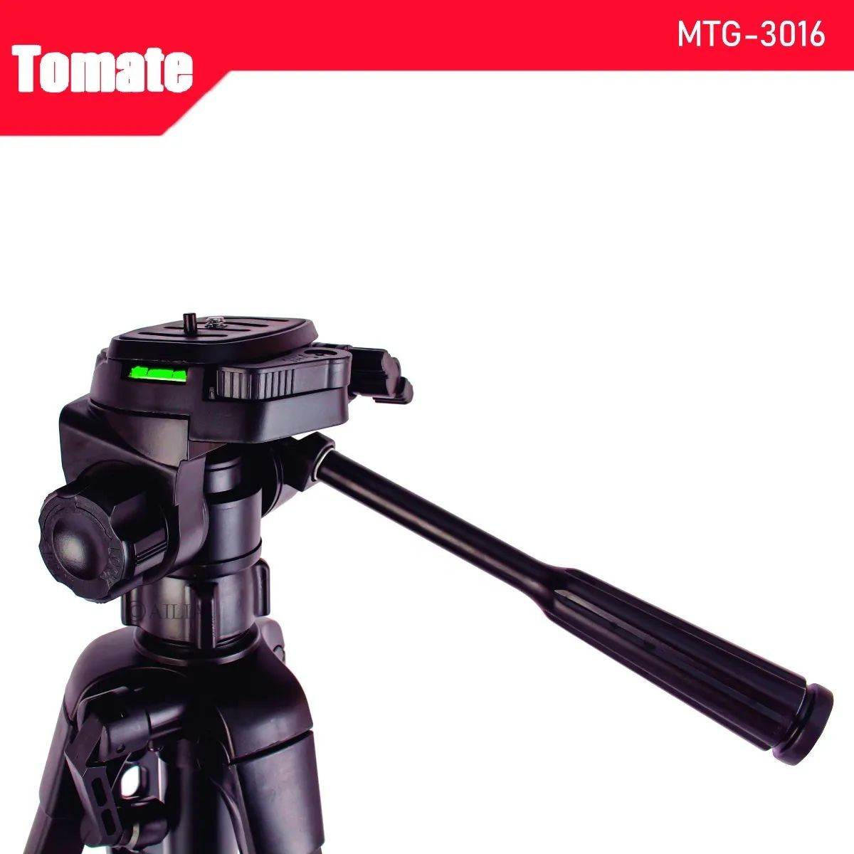 Tripé Para Câmera Fotográfica e Celular Altura até 1,65m 165cm c/ Bolsa e Suporte Celular Tomate MTG-3016