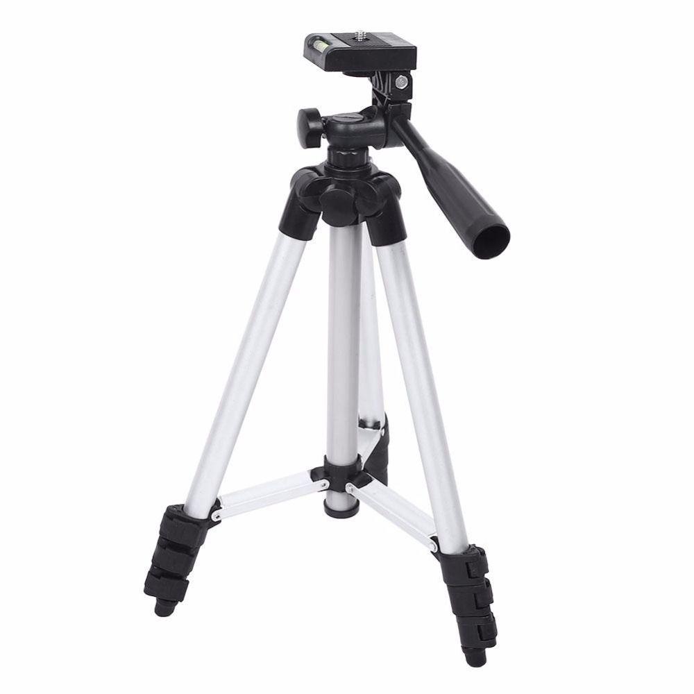 Tripé Para Câmera Fotográfica Pequena ou Celular em Alumínio Até 1,05m 105cm