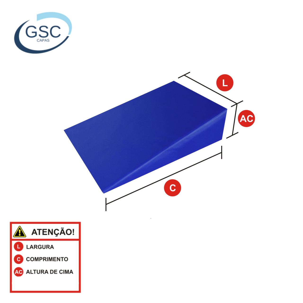 Capa Hospitalar Impermeável Soldada Rampa Travesseiro Anti-Refluxo