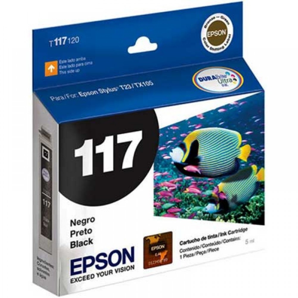CARTUCHO 117 T117120 PRETO EPSON