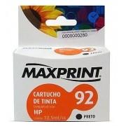 CARTUCHO COMPATIVEL COM HP 92 PRETO 611167-9 MAXPRINT
