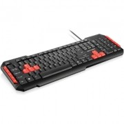 TECLADO USB GAMER RED KEYS TC160 MULTILASER