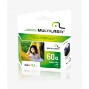 CARTUCHO COMPATIVEL COM HP 60XXL COLORIDO CO60C MULTILASER