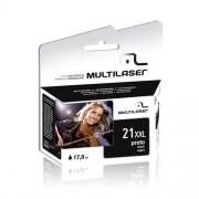 CARTUCHO COMPATIVEL COM HP 21XL PRETO CO021 MULTILASER