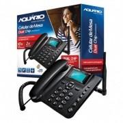TELEFONE CELULAR DE MESA DUAL CHIP QUADRIBAND CA-42 AQUARIOS