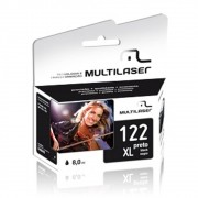 CARTUCHO COMPATIVEL COM HP 122XL PRETO CO338 MULTILASER