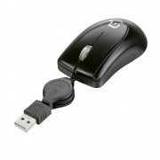 MINI MOUSE RETRATIL USB BLACK PIANO MO159 MULTILASER
