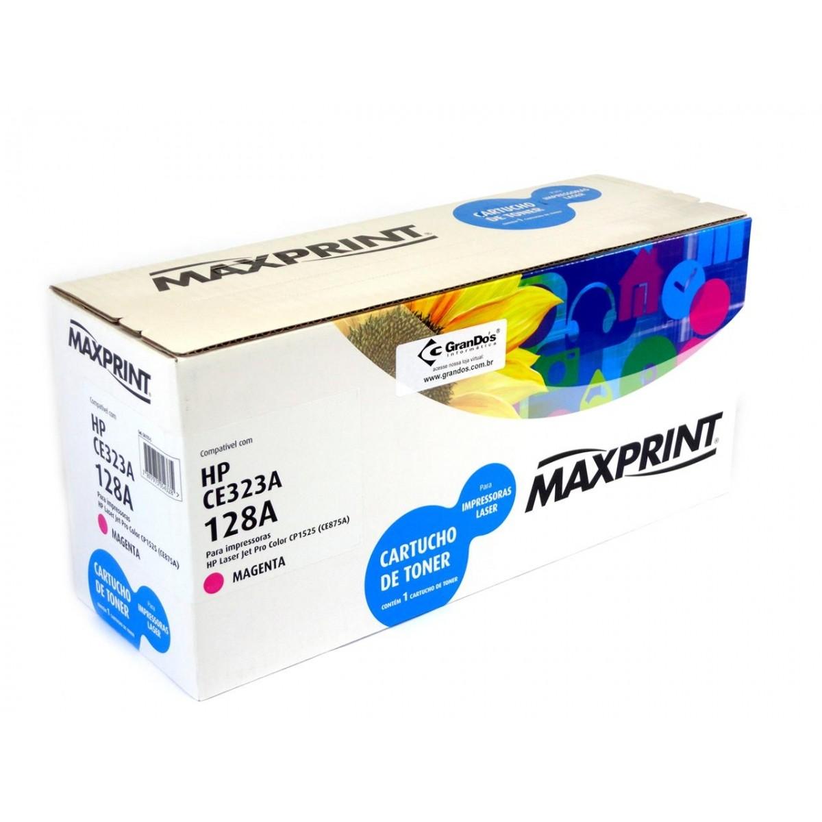 TONER COMPATIVEL COM HP 128A MAGENTA 561175-5 MAXPRINT