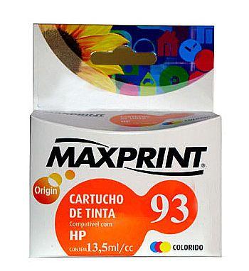 CARTUCHO COMPATIVEL COM HP 93 COLORIDO 611168-3 MAXPRINT
