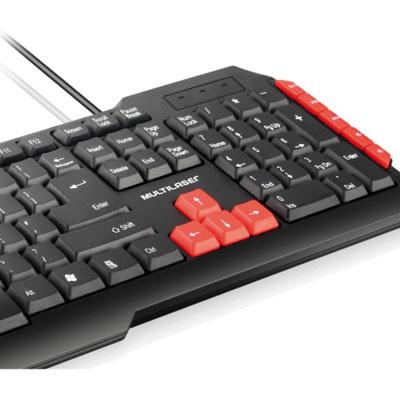 TECLADO USB GAMER RED KEYS TC160 MULTILASER