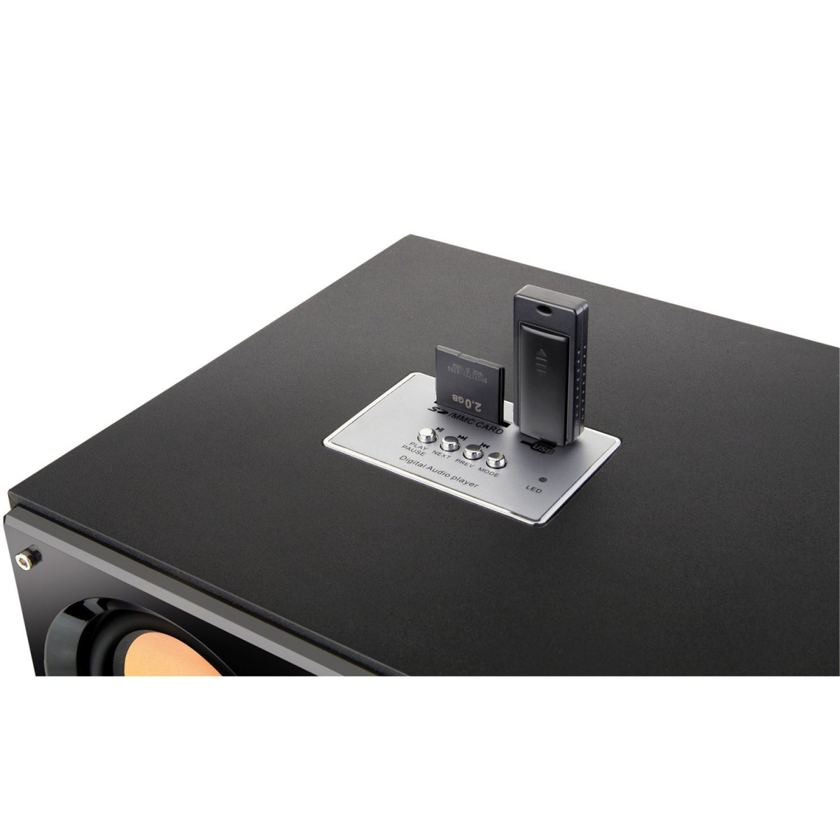 CAIXA DE SOM 2.2 30W BIVOLT USB 4 EM 1 SP118 MULTILASER