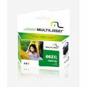 CARTUCHO COMPATIVEL COM HP 662XL COLORIDO CO662C MULTILASER