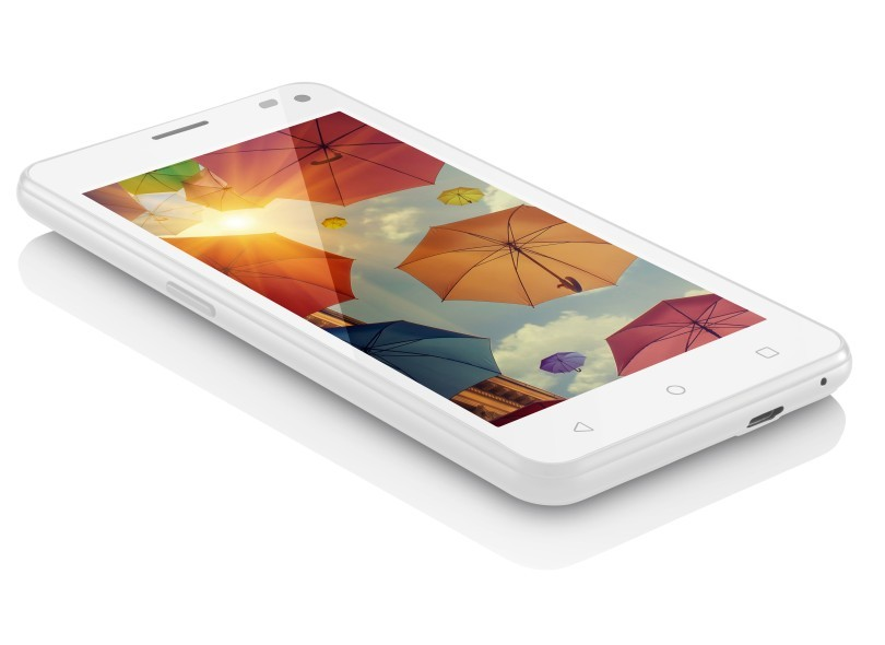 "SMARTPHONE MS50 COLORS 5"" NB221 3G QUAD CORE 2CHIP BRANCO MULTILASER"