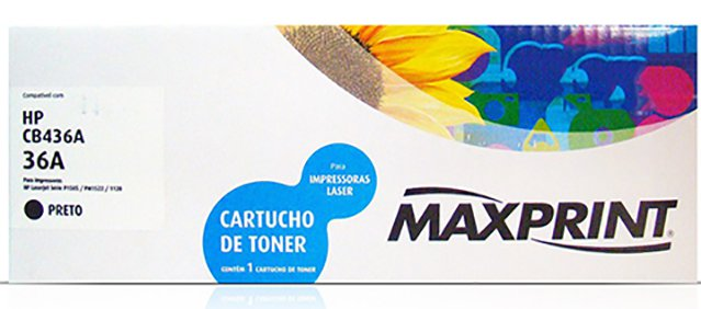 TONER COMPATIVEL COM HP 36A PRETO 56931-9 MAXPRINT