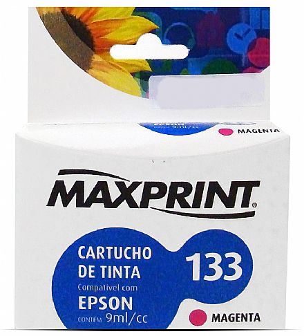 CARTUCHO COMPATIVEL COM EPSON 133 MAGENTA 611113-3 MAXPRINT
