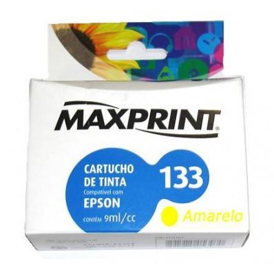 CARTUCHO COMPATIVEL COM EPSON 133 AMARELO  611114-8 MAXPRINT