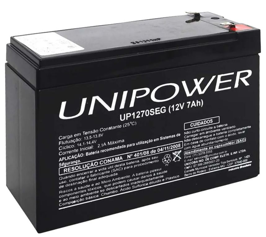 BATERIA SELADA 12V - 18AH UP12180 UNIPOWER