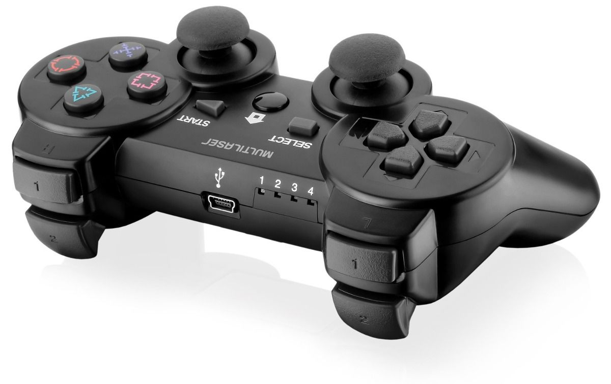 CONTROLE JOYPAD S/ FIO 3 EM 1 PS3/PS2/PC C/ BATERIA E CARREGADOR JS072 MULTILASE