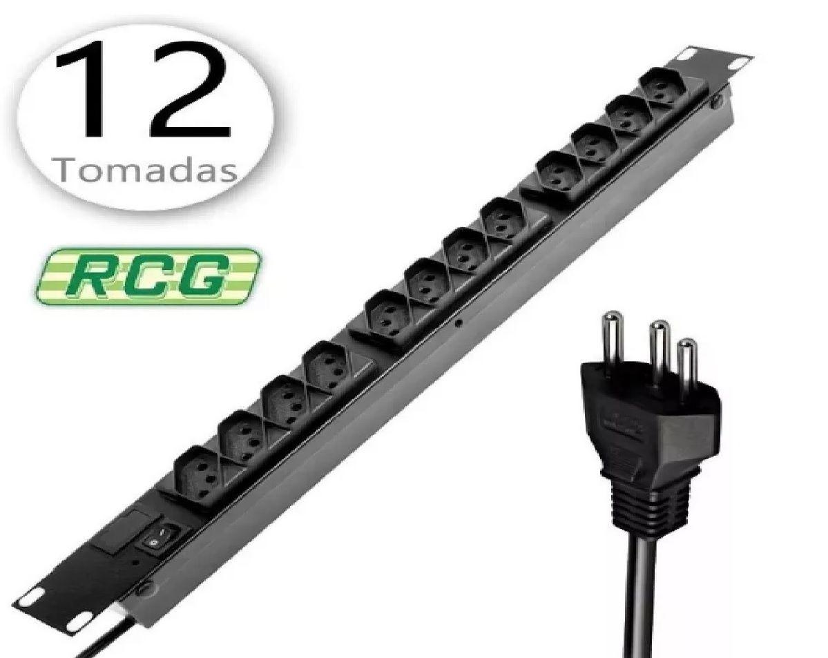 FILTRO DE LINHA / RACK 12 TOMADAS RCG