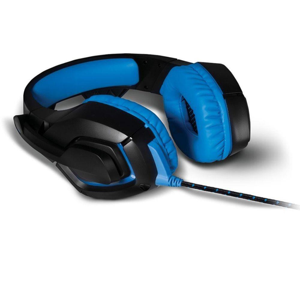 HEADSET GAMER WARRIOR C/ LED USB 2.0 PT/AZUL PH244 MULTILASER