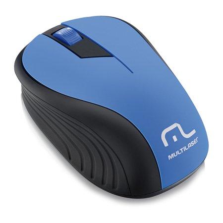 MOUSE S/ FIO 2.4GHZ PRETO/AZUL USB MO215 MULTILASER