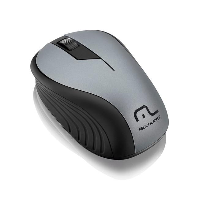 MOUSE S/ FIO 2.4GHZ PRETO/GRAFITE USB MO213 MULTILASER
