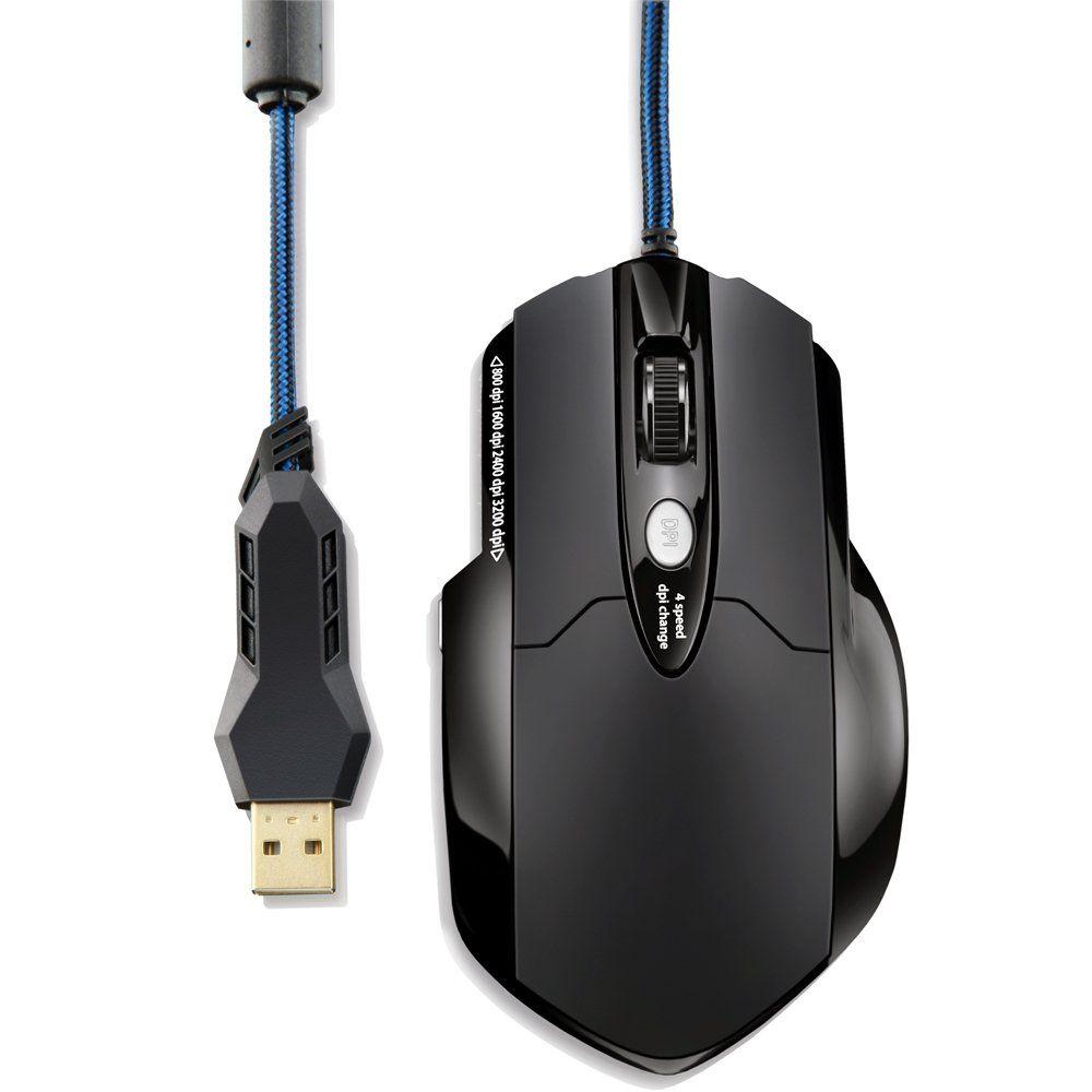 MOUSE USB PROFISSIONAL GAMER PRO LASER 8 BOTOES 3200 DPI MO191 MULTILASER