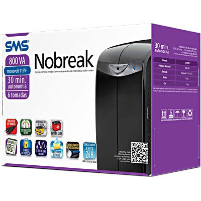 NOBREAK 800VA MONO 115 STATION 2 SMS