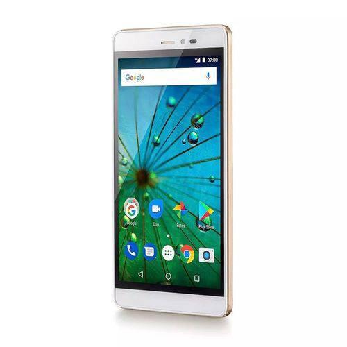 "SMARTPHONE 5.5"" 4G MS60F PLUS QUADCORE 2GB 8MP + 8MP C/ SENSOR DOUR/BR NB716 MULTILASER"