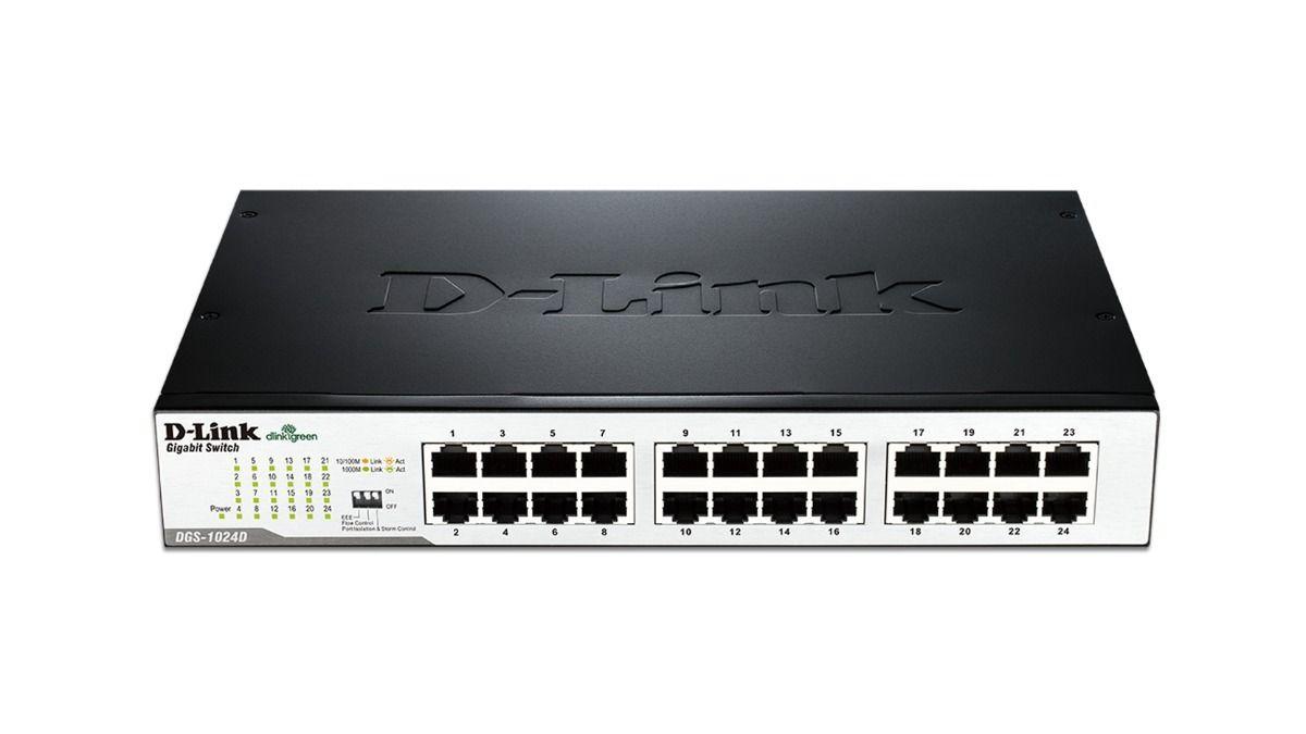 SWITCH 24PORTAS GIGABIT 1000MBPS DGS-1024D D-LINK