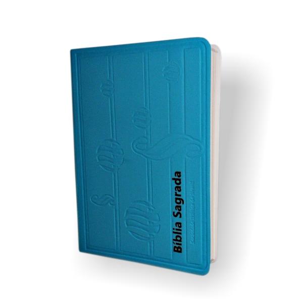 Bíblia Sagrada NTLH - Capa Fosca Azul - PROMESSAS PRECIOSAS