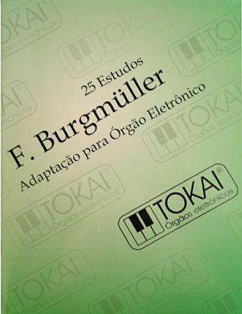 Método Burgmuller Órgão Eletrônico Tokai 25 Estudos - Musical Perin