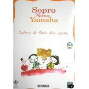 Método Sopro Novo Yamaha Flauta Doce Soprano c/ CD