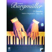 Método Friedrich Burgmüller Op. 100 25 Estudos para Piano c/ CD