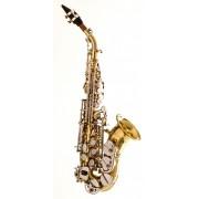 Sax Soprano Curvo Hoyden HSC 25 Laqueado c/ Chaves Niqueladas