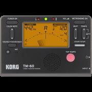 Metrônomo e Afinador Korg TM60 - Musical Perin