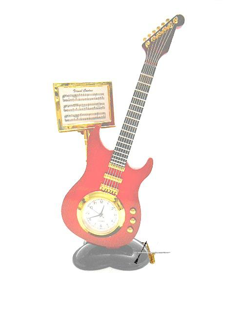 Relógio formato Guitarra - Musical Perin